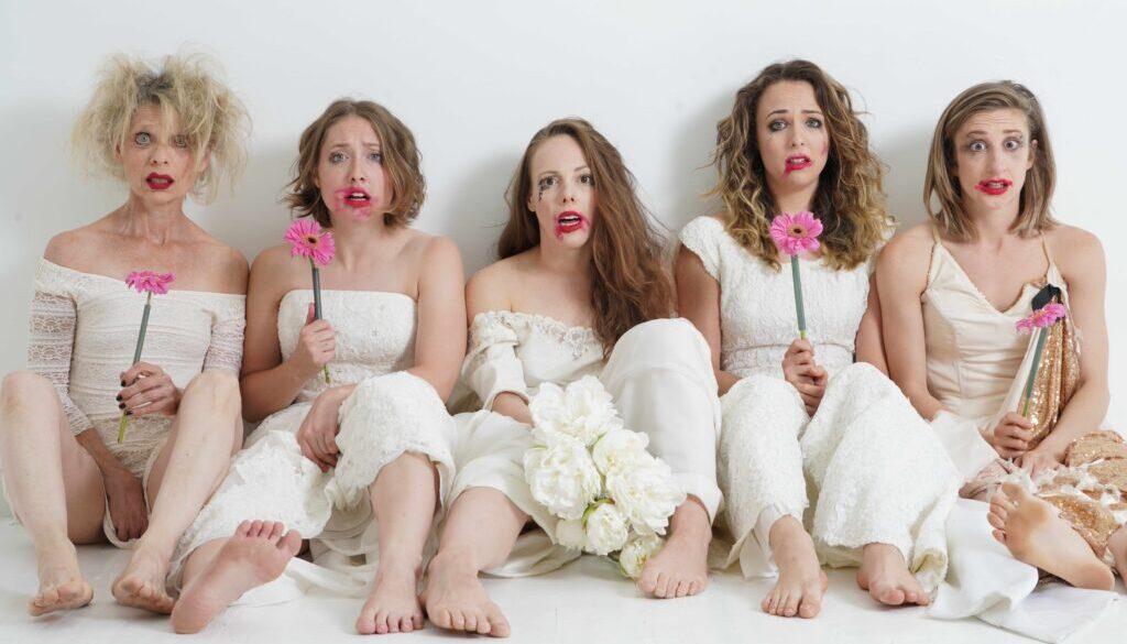 five women clowns