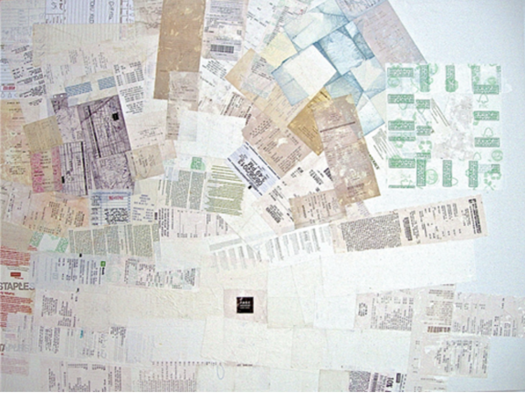 Painting with receipts