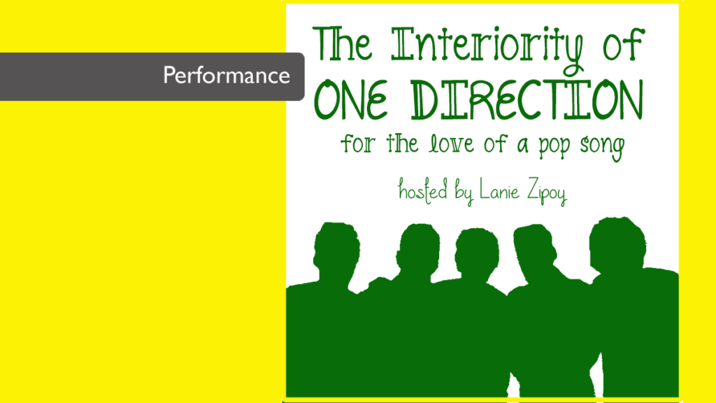Yellow background with outline of five guys outlined in green